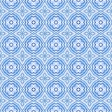 Blue Mosaic Seamless Background Stock Images
