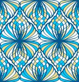 Blue Mosaic Seamless Pattern Stock Photography