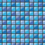 Blue mosaic seamless vector pattern Stock Photography