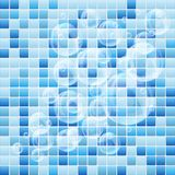 Blue mosaic small tile texture background of spa. Royalty Free Stock Image