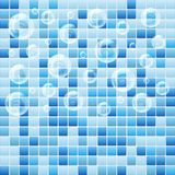 Blue mosaic small tile texture background of spa. Stock Images