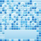 Blue mosaic small tile texture background of spa. Stock Photo