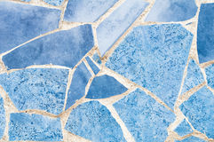 Blue mosaic texture Royalty Free Stock Image