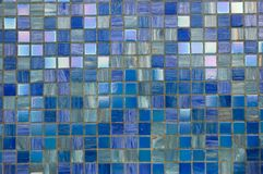 Blue mosaic texture. Blue tessellated mosaic texture for abstract background Royalty Free Stock Photo