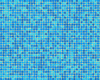 Blue mosaic tile background. A view of various blue mosaic tiles suitable for an abstract background Stock Photo