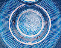 Blue mosaic tile Stock Photography