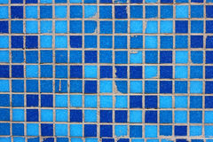 Blue mosaic tile pattern Royalty Free Stock Photography