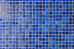 Blue mosaic tile wall Royalty Free Stock Image