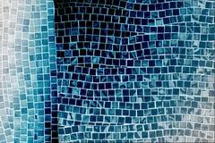 Blue mosaic tile wall Royalty Free Stock Photos