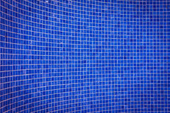 Blue mosaic tile wall Stock Image
