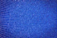 Blue mosaic tile wall Stock Image