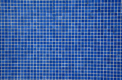 Blue mosaic tiles Stock Photography