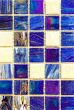 Blue mosaic tiles Stock Image