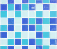 Blue mosaic tiles. Abstract backgroud Stock Images
