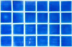 Blue mosaic tiles for background. Close up of Blue mosaic tiles for background royalty free stock photo