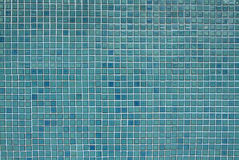 Blue mosaic tiles background Royalty Free Stock Photo