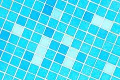 Blue mosaic tiles Royalty Free Stock Photos