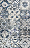 Blue mosaic tiles Royalty Free Stock Images