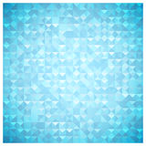 Blue mosaic vector background Royalty Free Stock Photos