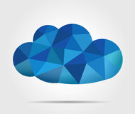 Blue mosaic vector cloud Royalty Free Stock Photo