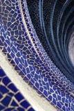 Blue mosaic wave Royalty Free Stock Image
