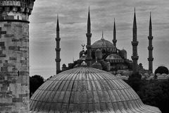 Blue Mosk in Istanbul Stock Images