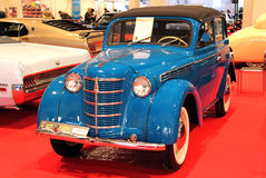 Blue Moskvitch-401 (1949).  Royalty Free Stock Images