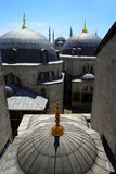 Blue Mosque. The Blue Mosque seen from the upper floor of Hagia Sophia Stock Photography