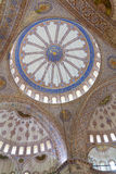 Blue Mosque. Interior dome of Blue Mosque, Istanbul, Turkey Stock Photo