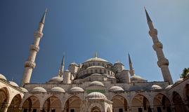 Blue mosque. At the istanbul turkey Royalty Free Stock Images