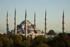 Blue Mosque. At Istanbul Turkey Royalty Free Stock Photos