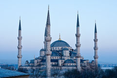 Blue Mosque. Blue Mosque at Dusk in Istanbul, Turkey Stock Image