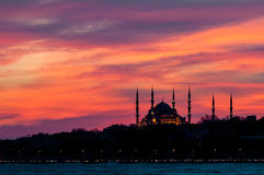 Blue Mosque. At Sunset in İstanbul royalty free stock photography