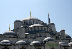 Blue Mosque. Fragment of Blue Mosque, Istanbul, Turkey Royalty Free Stock Photos