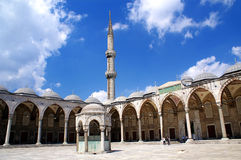 Blue Mosque. Inner yard of Blue Mosque, Istanbul, Turkey Stock Photography