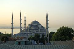 The Blue Mosque. In Istanbul, Turkey Royalty Free Stock Photo