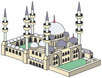 Blue Mosque. Illustration of historical blue mosque - isolated on a white background - EPS file available Royalty Free Stock Photo