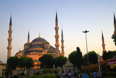 The Blue Mosque. A scene from Blue Mosque, in Istanbul, Turkey Royalty Free Stock Photos
