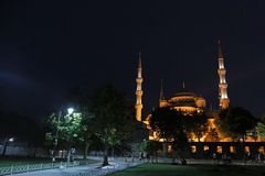 Blue Mosque Area At Night Stock Images
