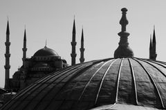 Blue Mosque in B&W Stock Images