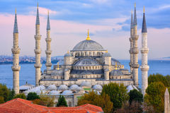 Blue Mosque and Bosporus, Istanbul, Turkey Royalty Free Stock Images
