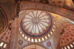 Blue Mosque Ceiling. The ceiling of the Blue Mosque in Istanbul, Turkey Stock Photos