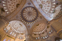 Blue Mosque Ceiling. Blue Mosque (Istanbul) interior ceiling Royalty Free Stock Image