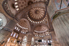 Blue Mosque Ceiling Istanbul Turkey Stock Photo