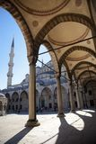Blue mosque courtyard / Istanbul Stock Images