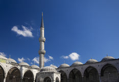 Blue mosque courtyard / Istanbul Stock Photography