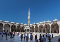 Blue Mosque Courtyard Istanbul Stock Photo