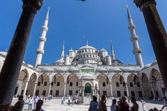Blue Mosque Courtyard Istanbul Stock Photos