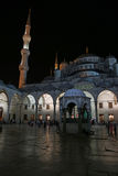 Blue Mosque Courtyard at Night Royalty Free Stock Images