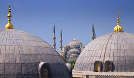 Blue mosque with Domes of the Hagia Sophia Royalty Free Stock Photography
